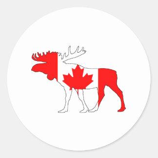 Sticker Rond Orignaux du Canada