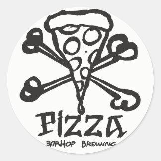 Sticker Rond Os de pizza