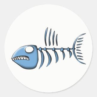 Sticker Rond Os de poissons