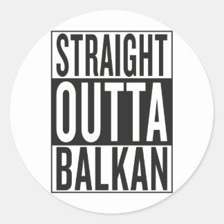 Sticker Rond outta droit Balkan