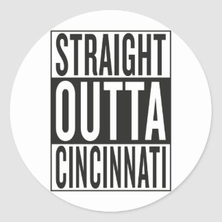 Sticker Rond outta droit Cincinnati