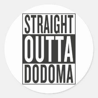 Sticker Rond outta droit Dodoma