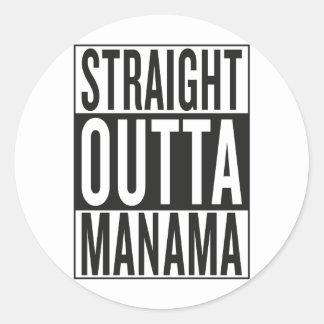 Sticker Rond outta droit Manama