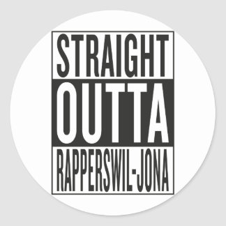 Sticker Rond outta droit Rapperswil-Jona