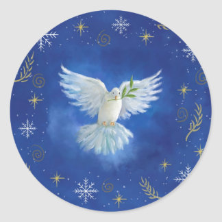 Sticker Rond paix sur terre