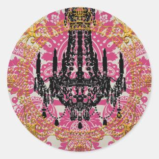 Sticker Rond Palais de Kali, déesse de temps, joints