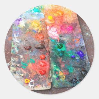 Sticker Rond Palette de couleurs