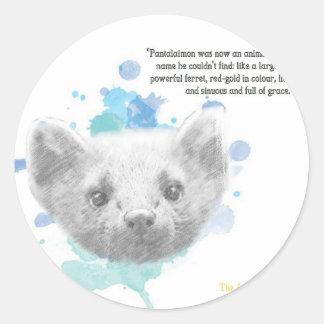 Sticker Rond Pantalaimon, le démon de Lyra de ses matériaux