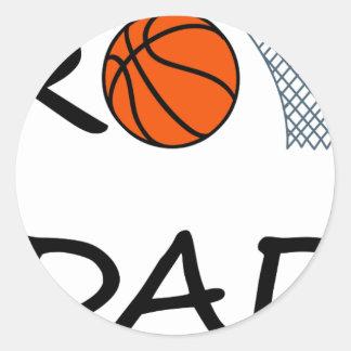 Sticker Rond PAPA de basket-ball