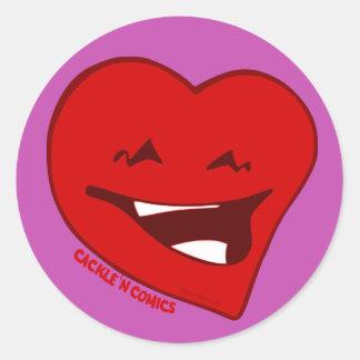 Sticker Rond Paquet rond d'autocollant de logo d'amour de