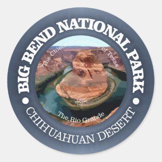 Sticker Rond Parc national de grande courbure