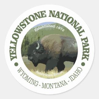 Sticker Rond Parc national de Yellowstone (bison)