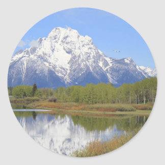 Sticker Rond Parc national grand de Mt. Moran Teton