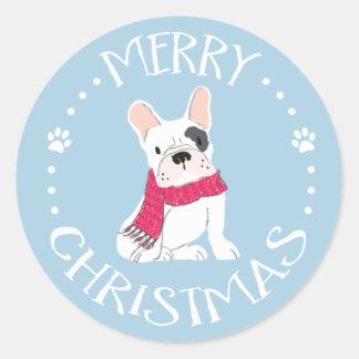Sticker Rond Pattes de Père Noël - Noël Chien-Orienté