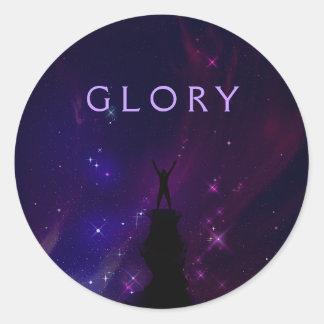 Sticker Rond Paysage de motivation de violette de gloire de