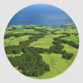 Sticker Rond Paysage des Açores