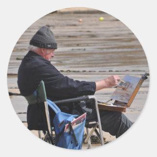 Sticker Rond peintre de St Ives