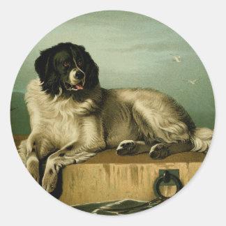 Sticker Rond Peinture vintage : Berger de Bucovina