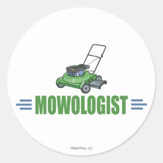 Sticker Rond Pelouses de fauchage d'herbe de soin de pelouse