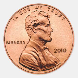 Sticker Rond Penny de Lincoln