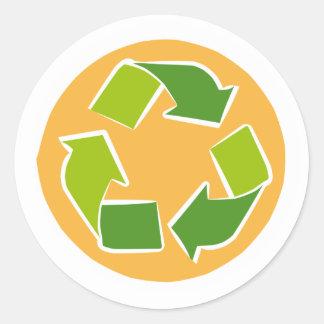 Sticker Rond Pensez la citation heureuse de conscience verte