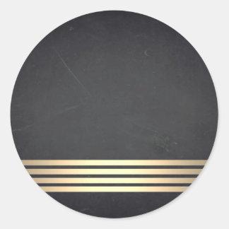 Sticker Rond Personnaliser barrée par or vide de tableau
