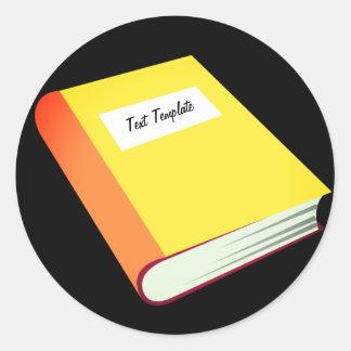 Sticker Rond Personnalisez votre livre jaune Emoji