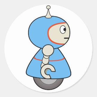 Sticker Rond Peu d'autocollants de robot