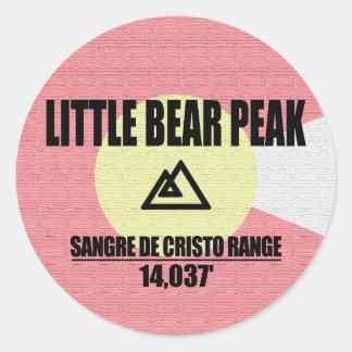 Sticker Rond Peu de crête d'ours