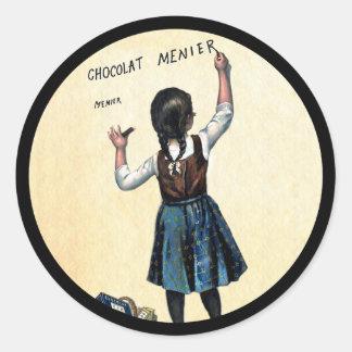 Sticker Rond Peu de fille de Menier Chocolat