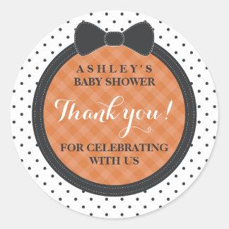 Sticker Rond Peu de Merci de baby shower de l'arc   Halloween