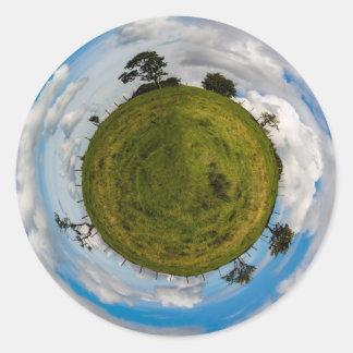 Sticker Rond Peu de planète