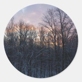 Sticker Rond Photographie en pastel de paysage de nature de