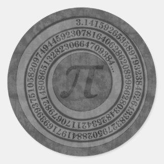 Sticker Rond Pi affligé à 125