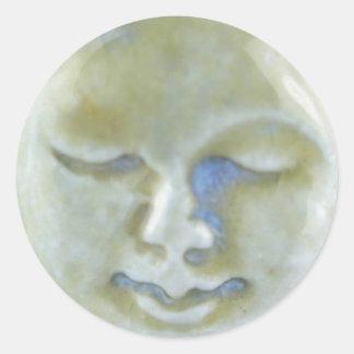 Sticker Rond Pierre de la lune de déesse de lune