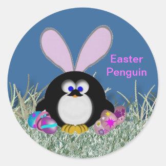 Sticker Rond Pingouin de Pâques