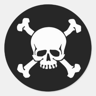 Sticker Rond Pirate