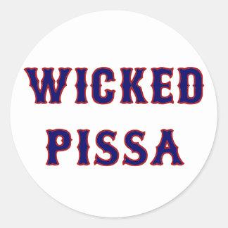 Sticker Rond Pissa mauvais