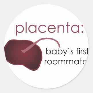 Sticker Rond placenta, le premier compagnon de chambre du bébé