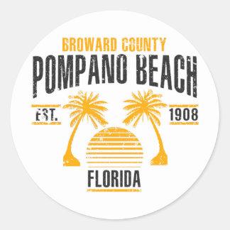 Sticker Rond Plage de Pompano