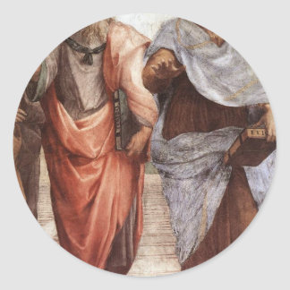 Sticker Rond Platon et Aristote
