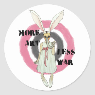 Sticker Rond Plus d'art moins de guerre