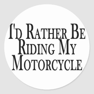 Sticker Rond Plutôt monte ma moto