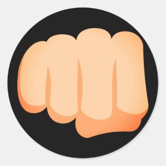 Sticker Rond Poing Emoji de Bro