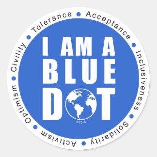 Sticker Rond Point bleu global