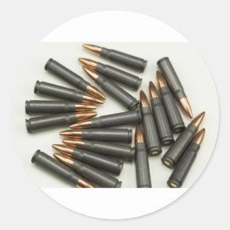Sticker Rond point creux des munitions 7.62x39mm de munitions