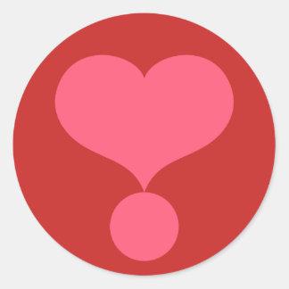 Sticker Rond Point d'exclamation en forme de coeur