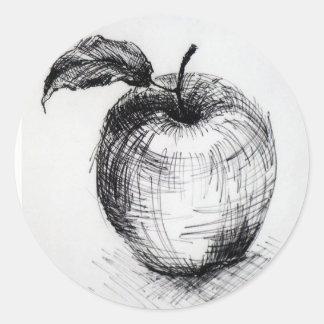 Sticker Rond pomme