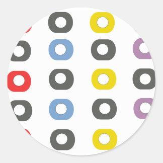 Sticker Rond Pomme de conception