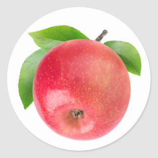 Sticker Rond Pomme rouge